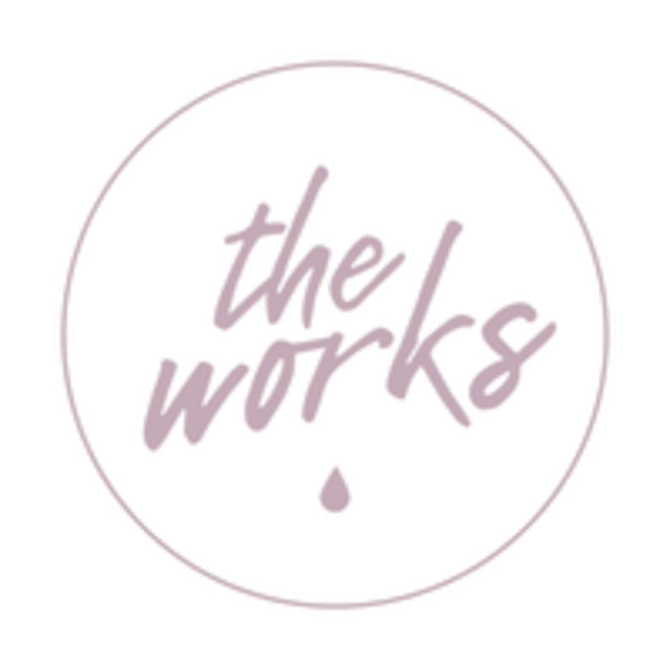 The Works a Sweat Studio by Sarah Frick logo