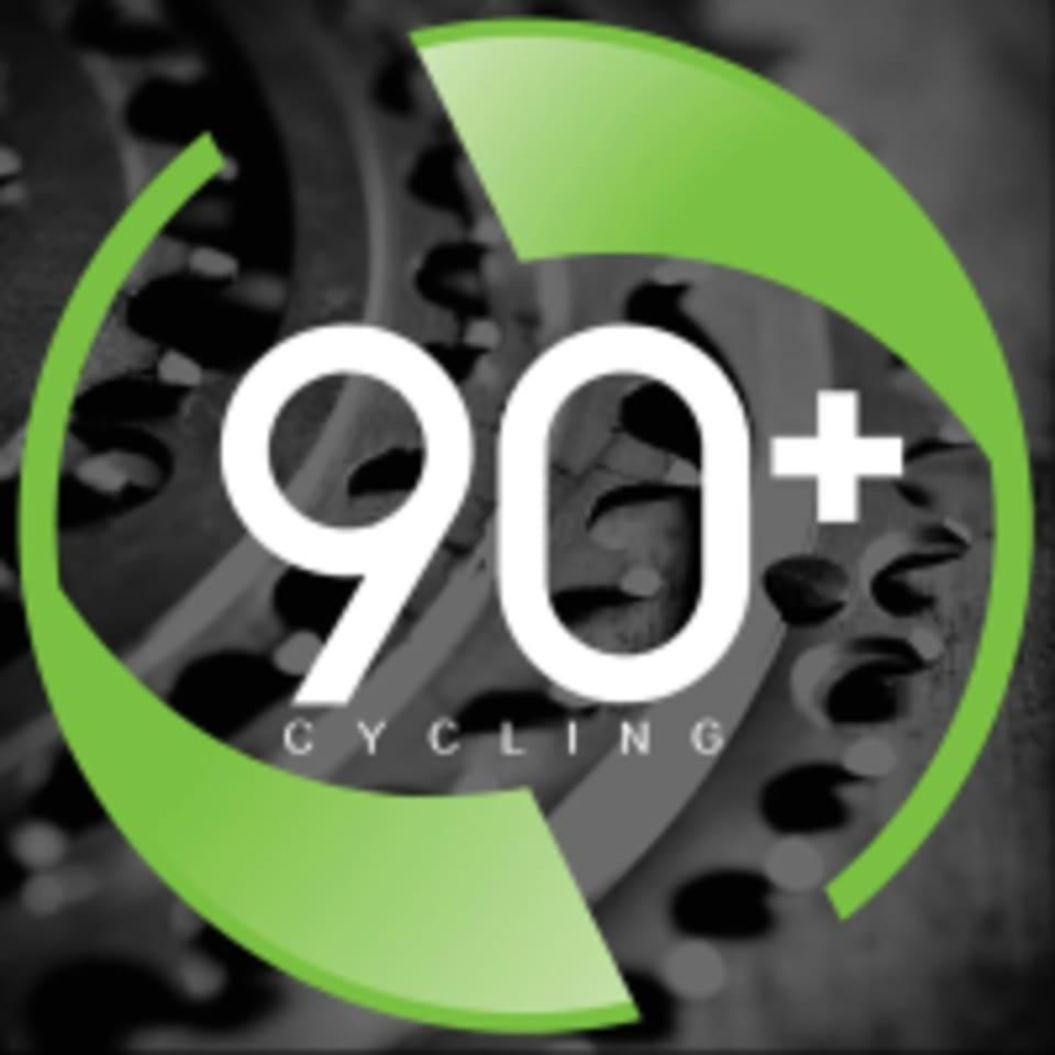 90+ Cycling logo