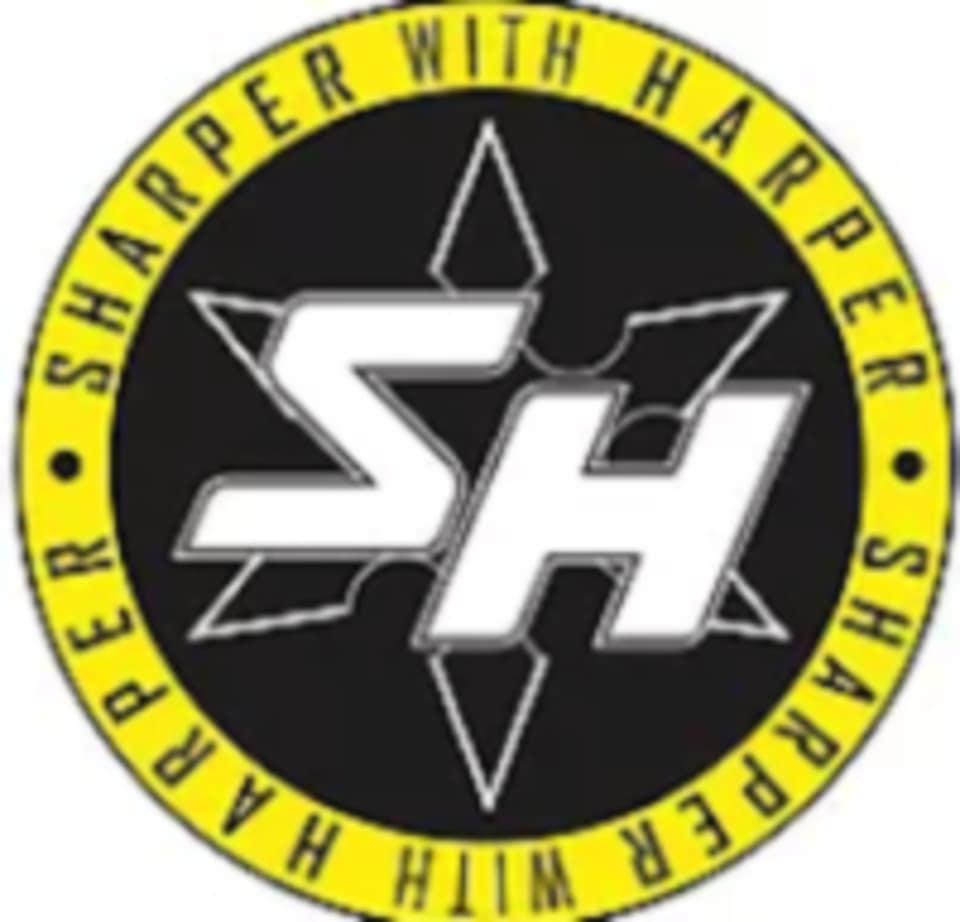 Get Sharper with Harper logo