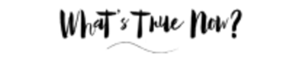 """""""What's True Now?"""" logo"""