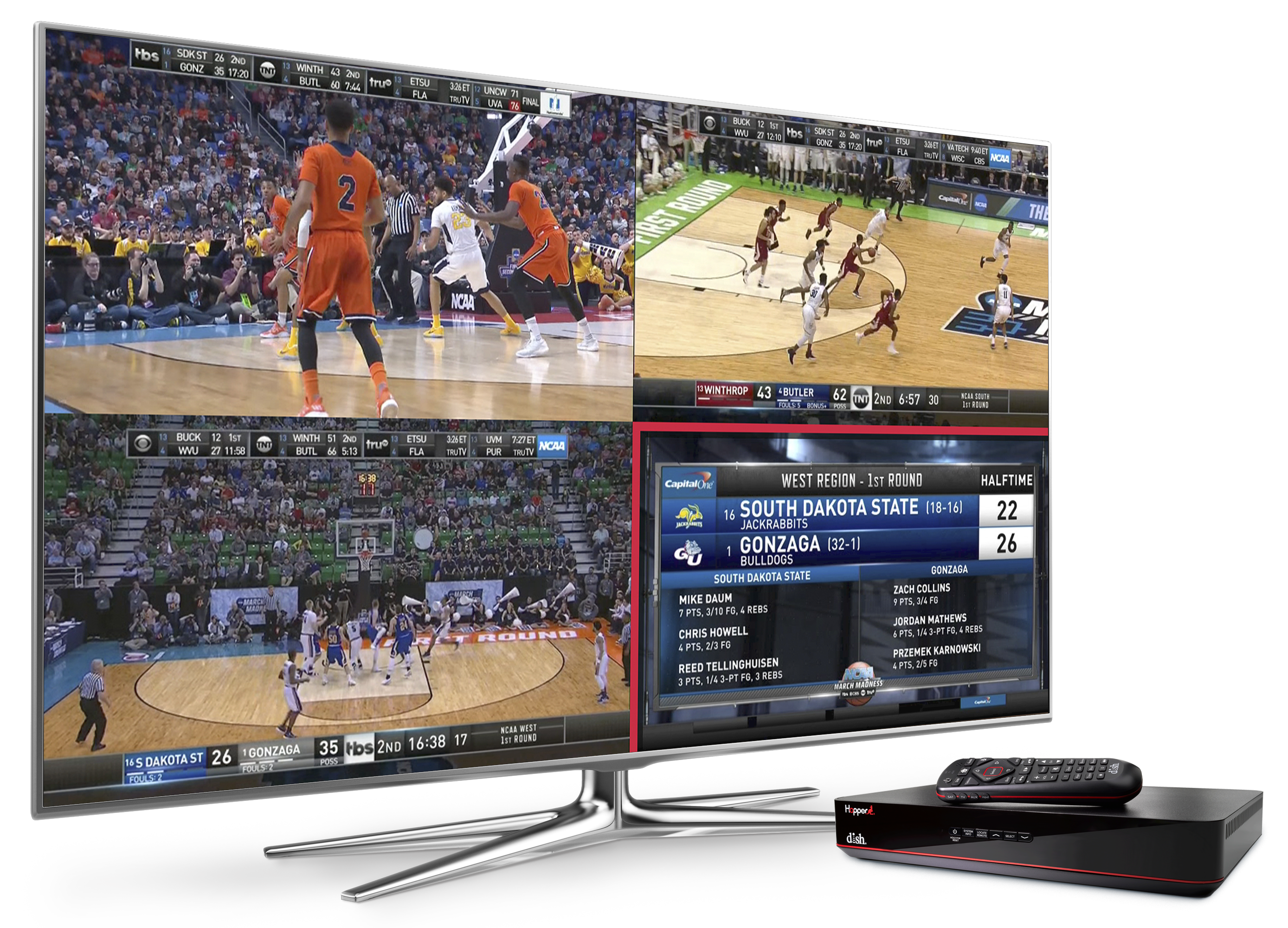 4 sporting events on one tv