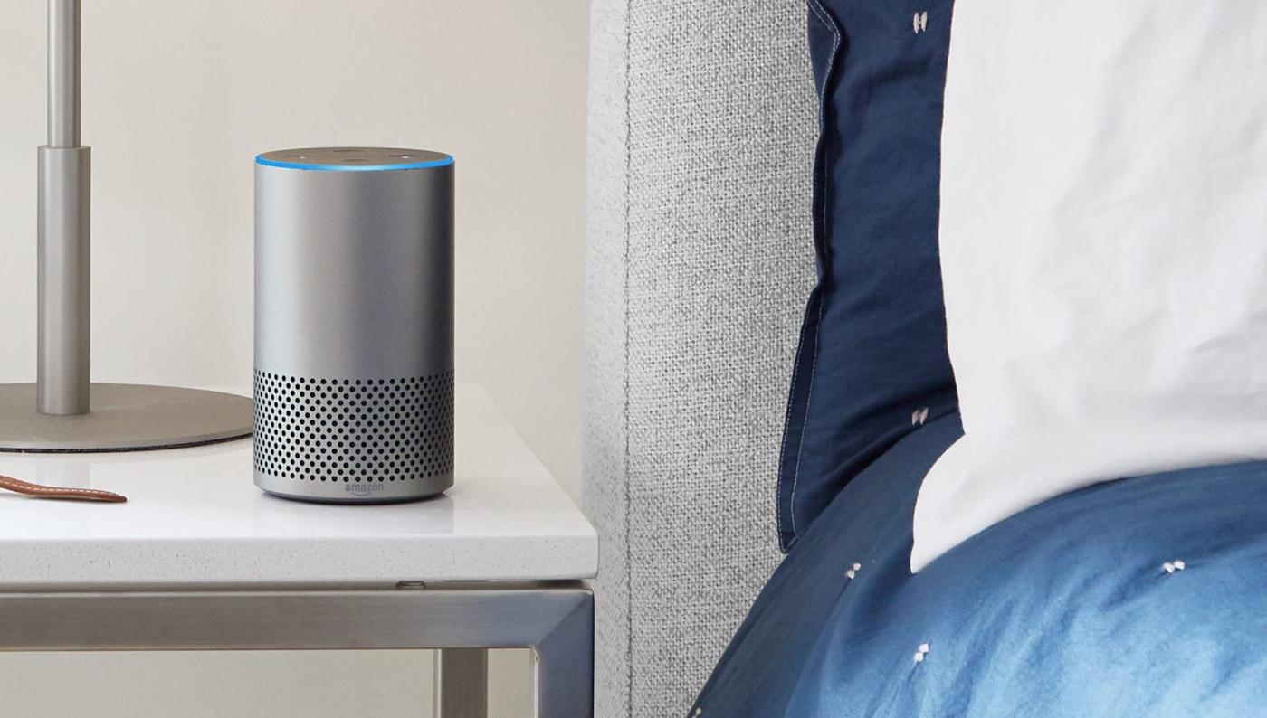 Amazon Alexa on nightstand