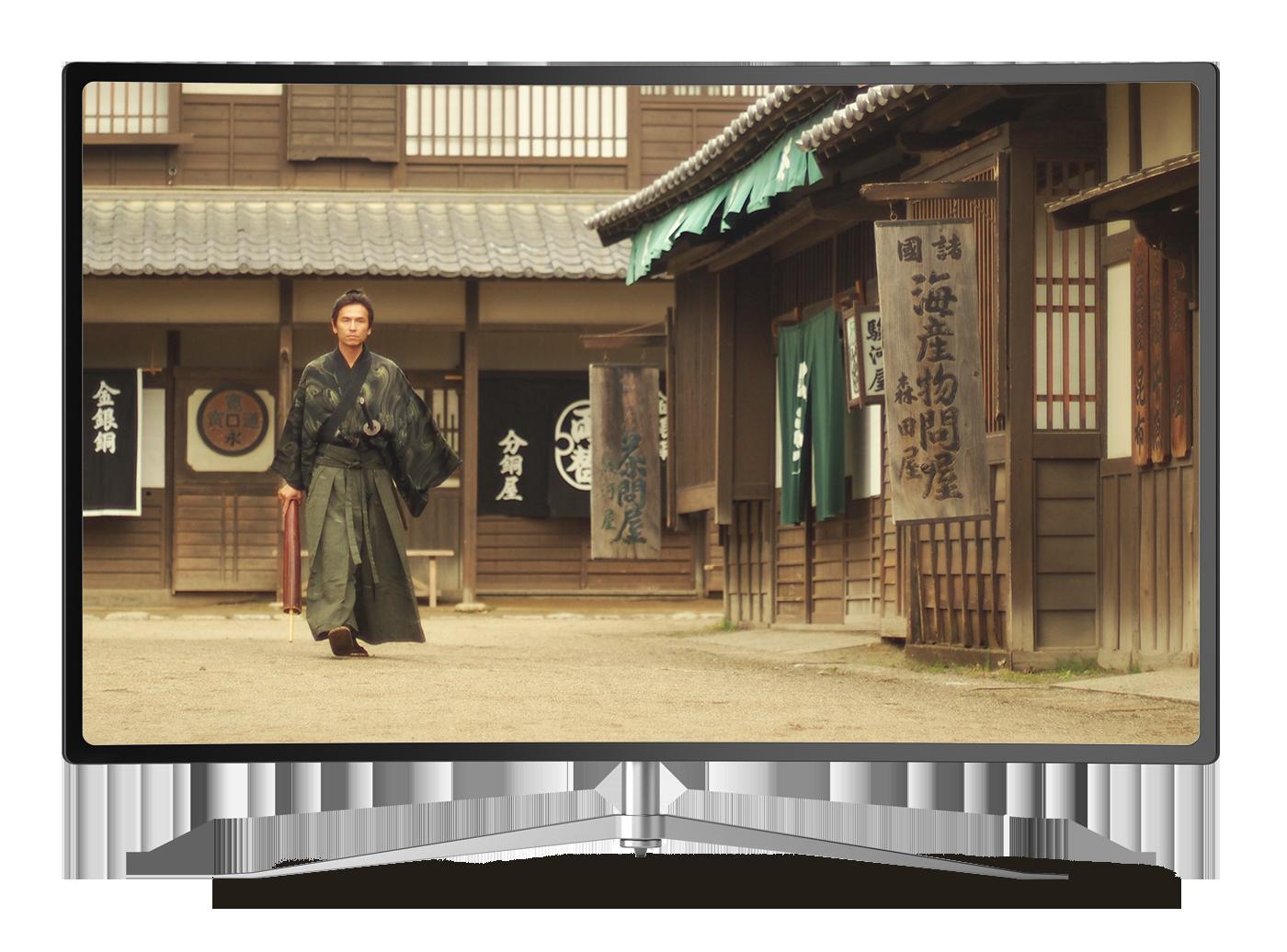 TV with movie image