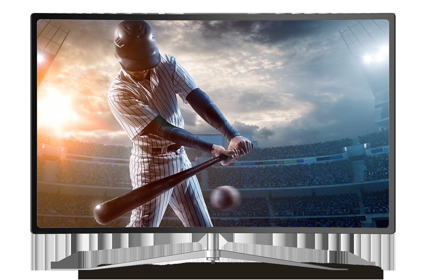 baseball player on tv
