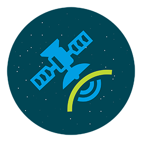 satellite in space illustration