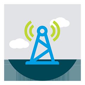 wireless tower illustration