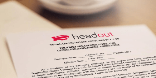 Internship contract from Headout, so excited to begin!