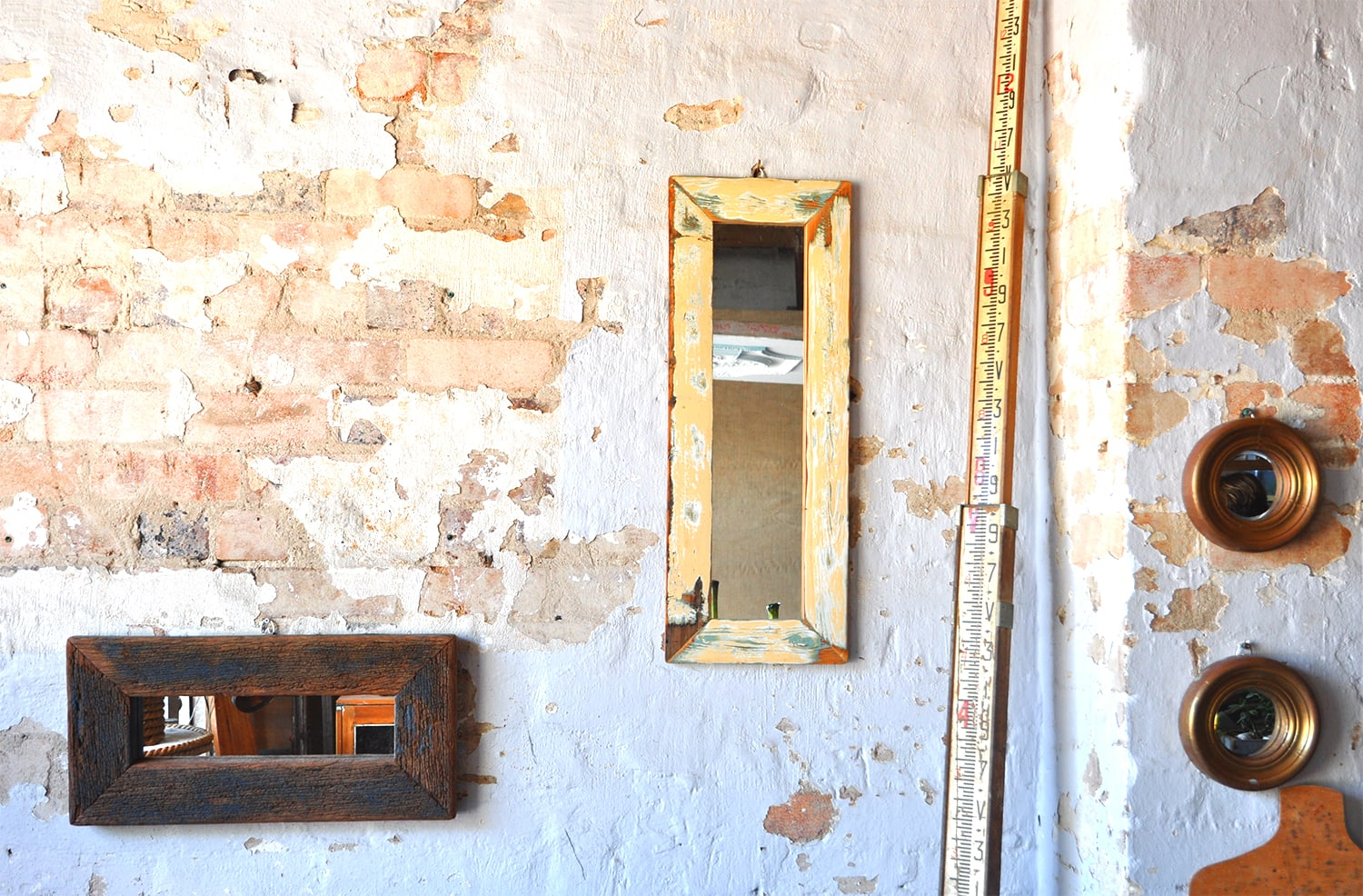 recycled-wood mirrors