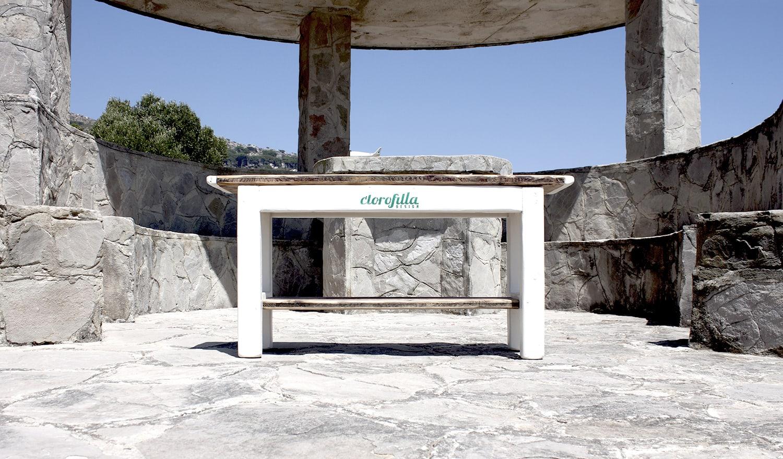 clorofilla white bench