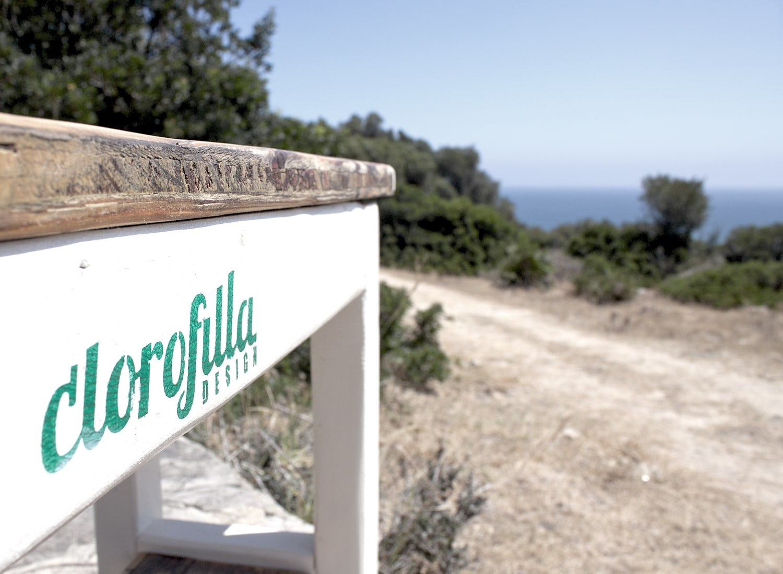 clorofilla white bench detail