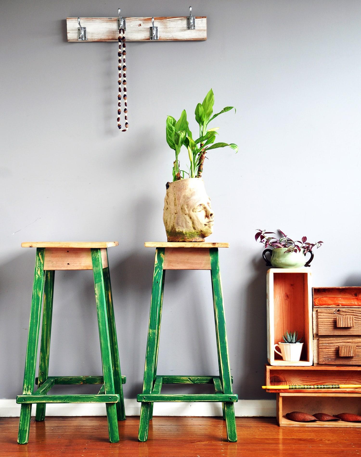 green stools