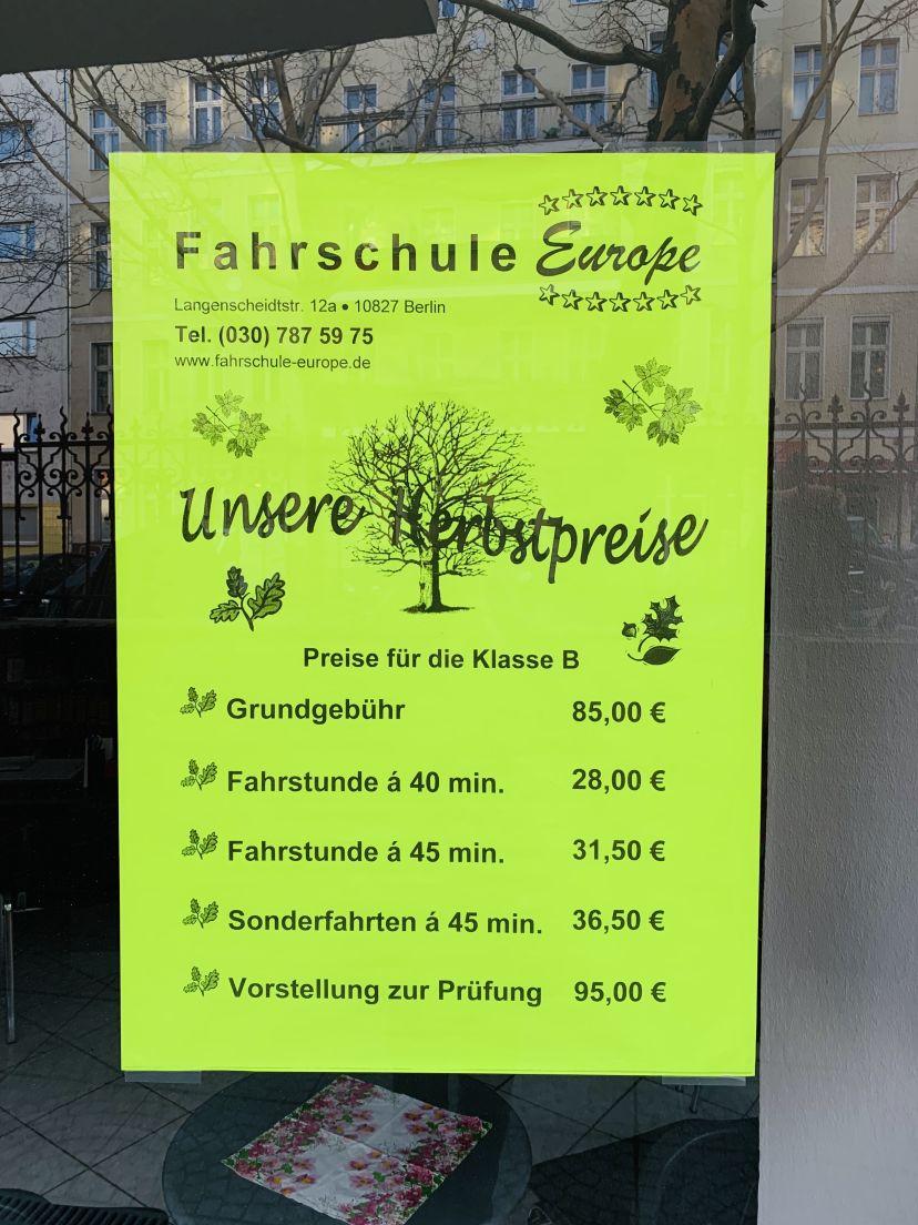 Fahrschule Europe am Kleistpark, Langenscheidtstraße Schöneberg 3