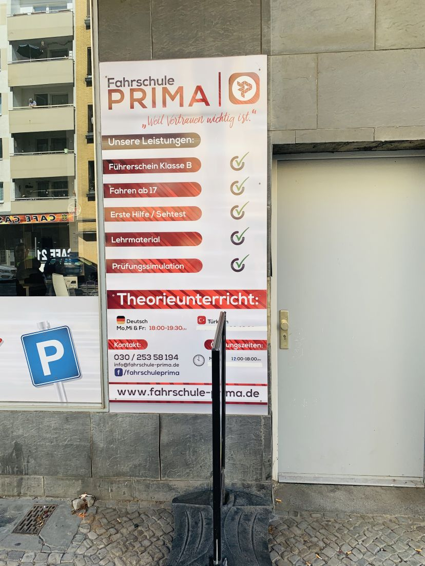 Fahrschule PRIMA Berlin Kreuzberg 1