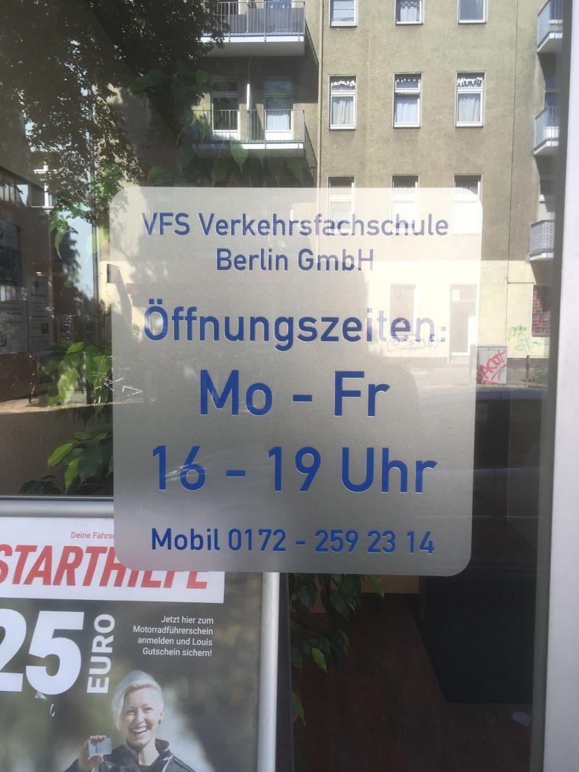 Fahrschule VFS Verkehrsfachschule Berlin - Emmentaler Str. Borsigwalde 3