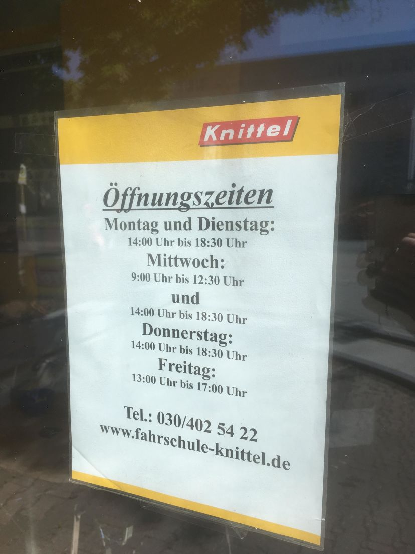 Fahrschule Knittel - Finsterwalder Str. Wittenau 4