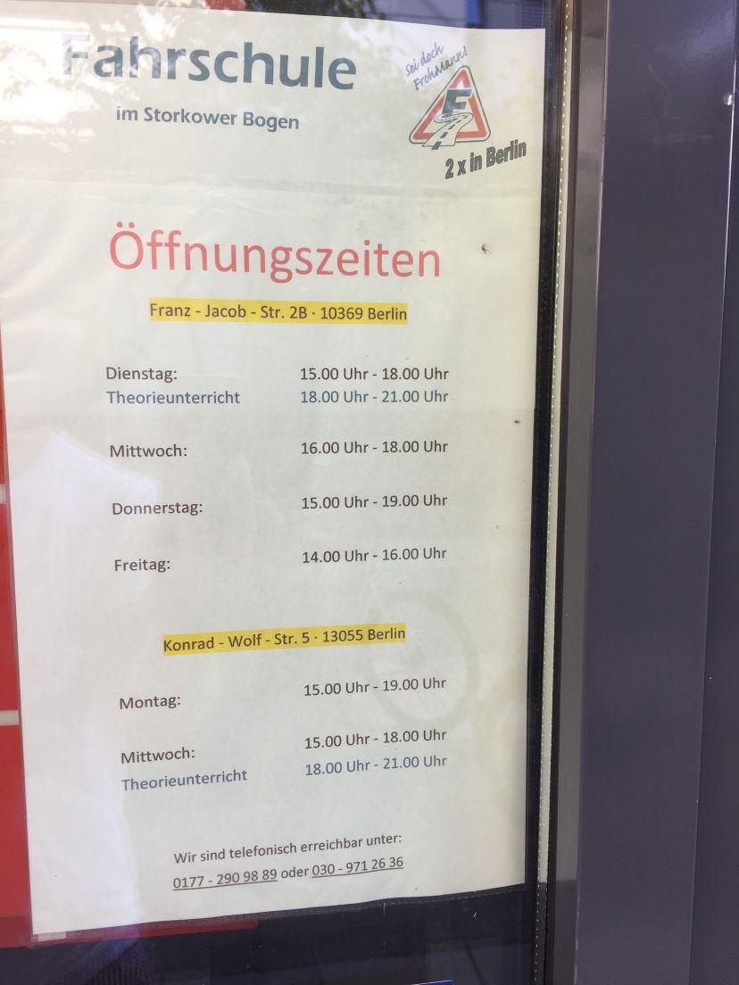 Fahrschule im Storkower Bogen - Franz Jacob Str. 2b 1.OG Berlin Fennpfuhl 6