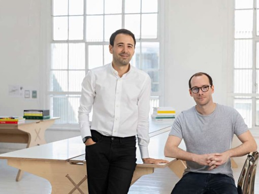Clippings co-founders Adel Zakout and Tom Mallory in the London office on raising Series B funding