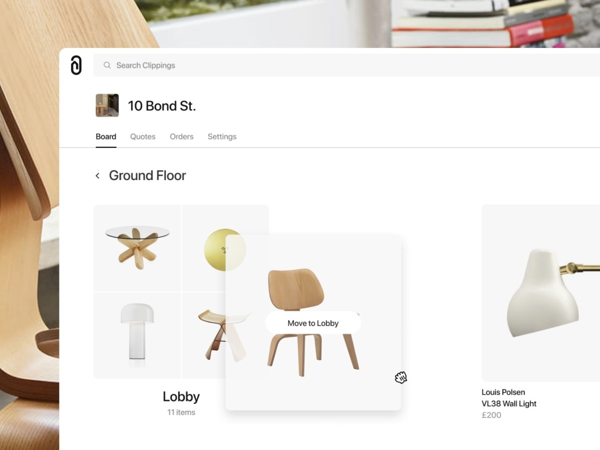 New features make furniture and lighting sourcing easier