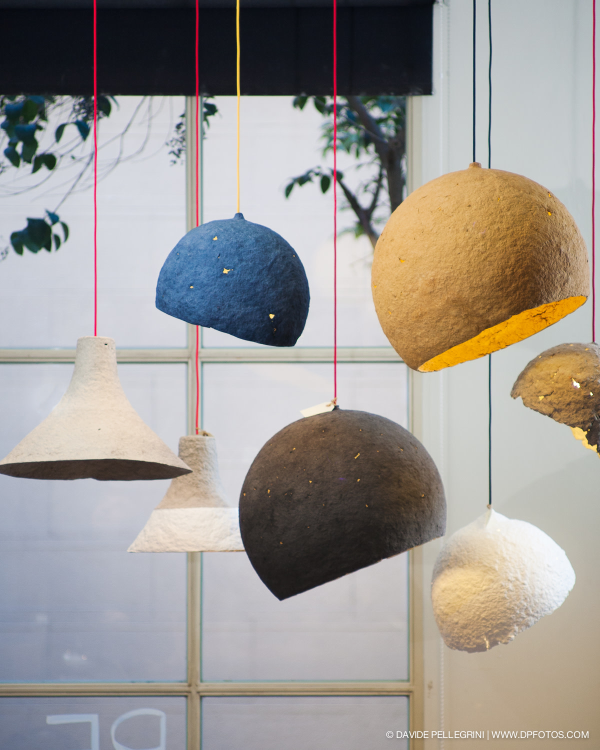 Crea-Re lamps in an exposition in Barcelona, Spain. Photo: Davide Pellegrini