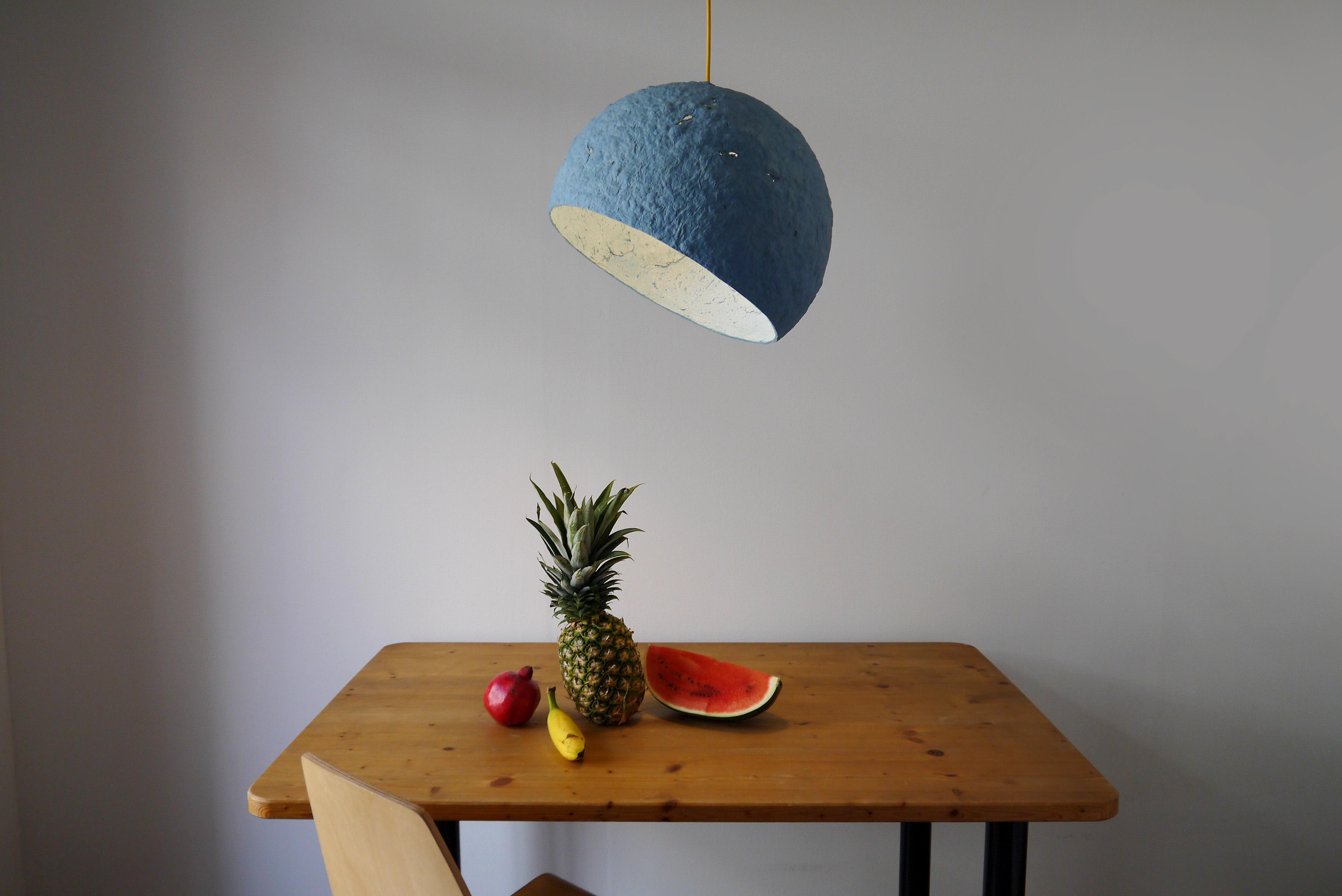 Globe Blue pendant lamp