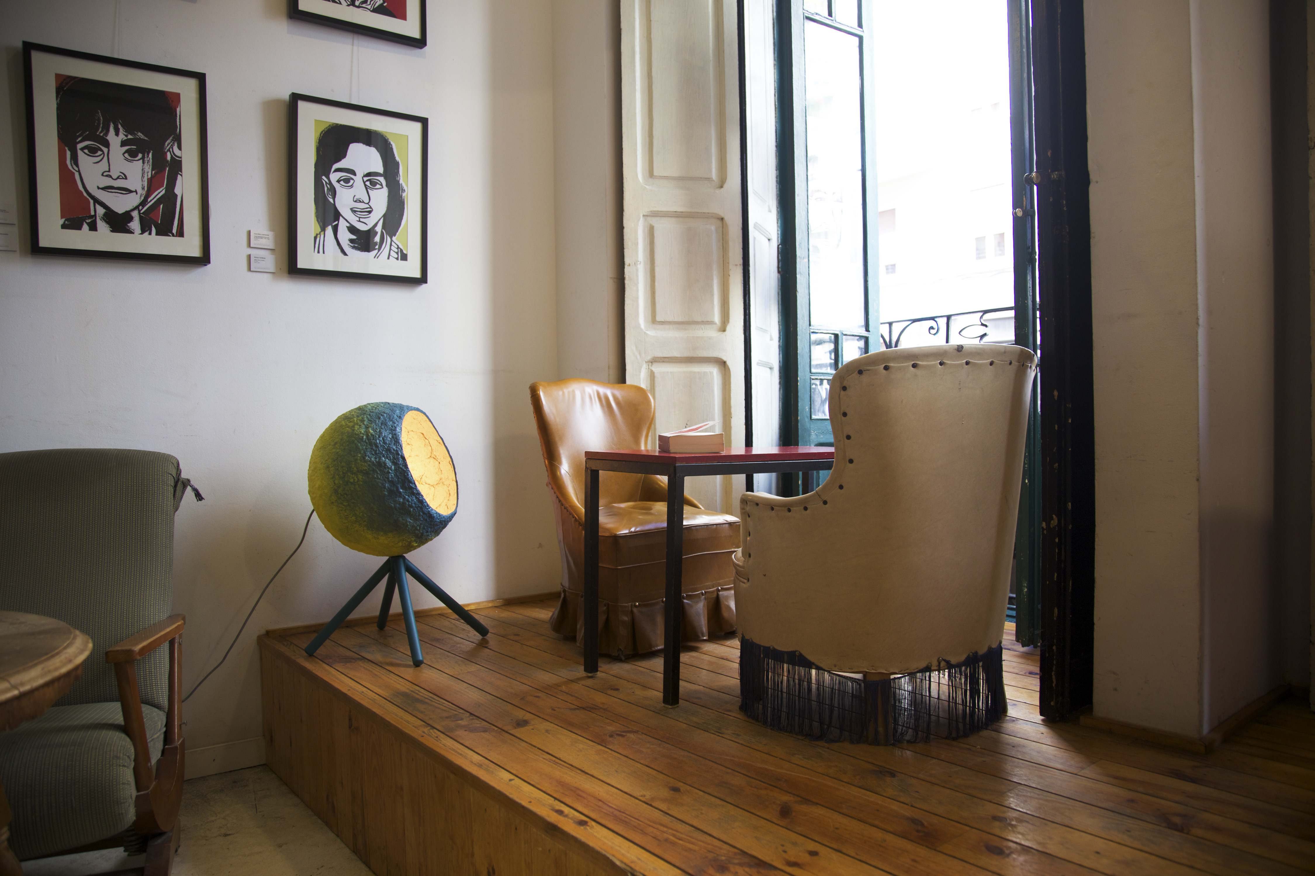 Pluto lamp in Cafe Ubik in Valencia, Spain