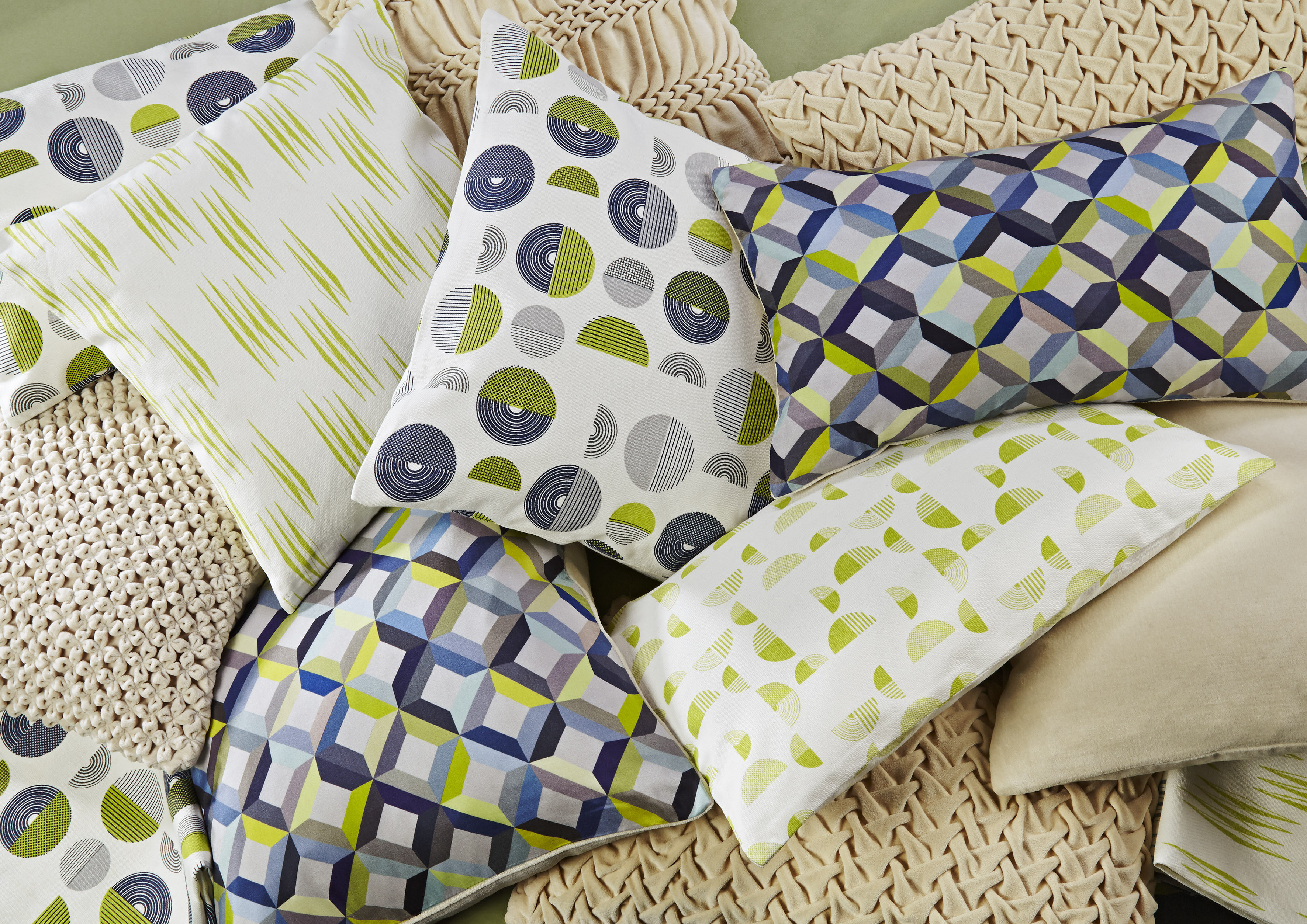 100% Organic Cotton Printed Cushions