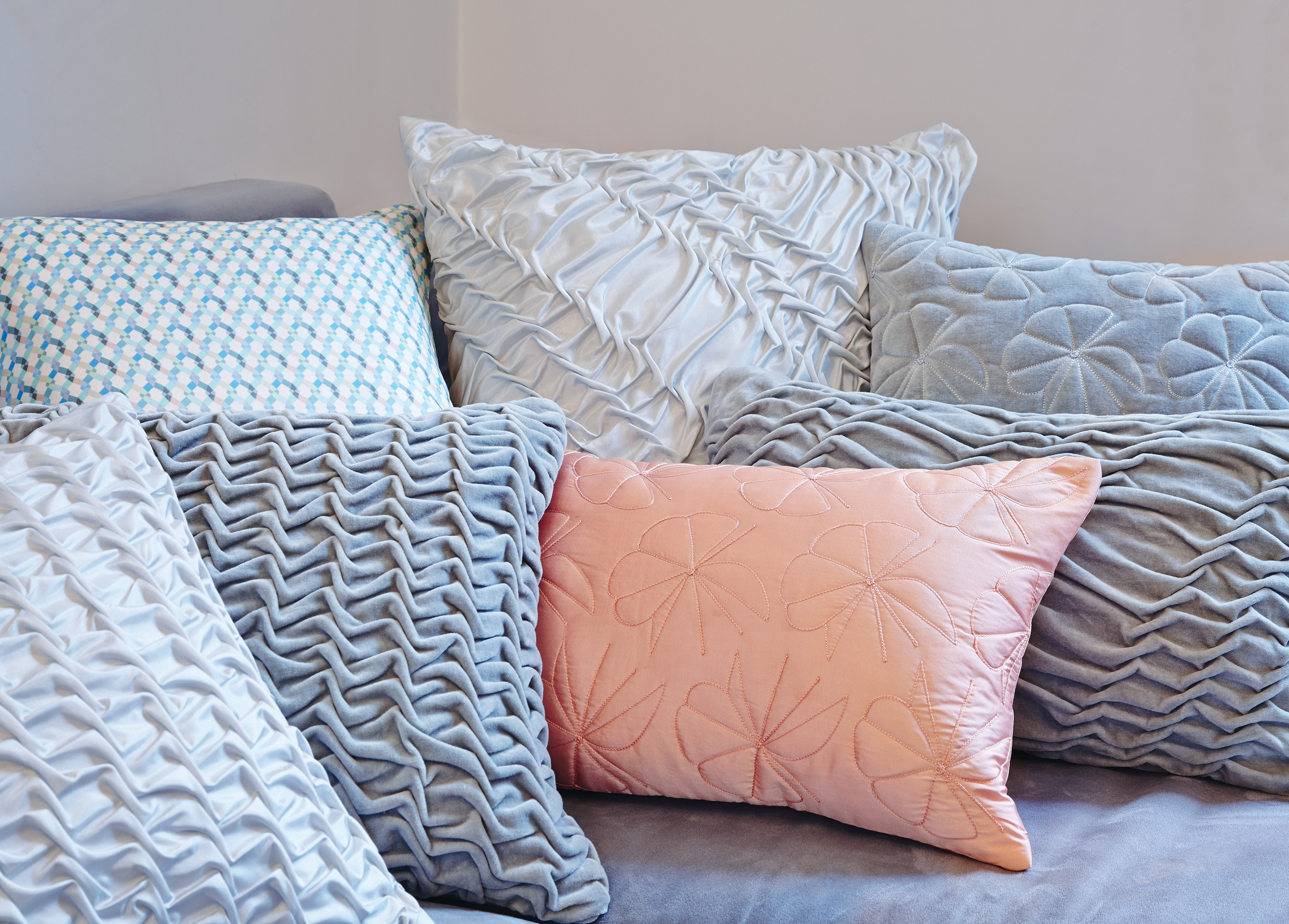 Hand Quilted & Pleated Cushions