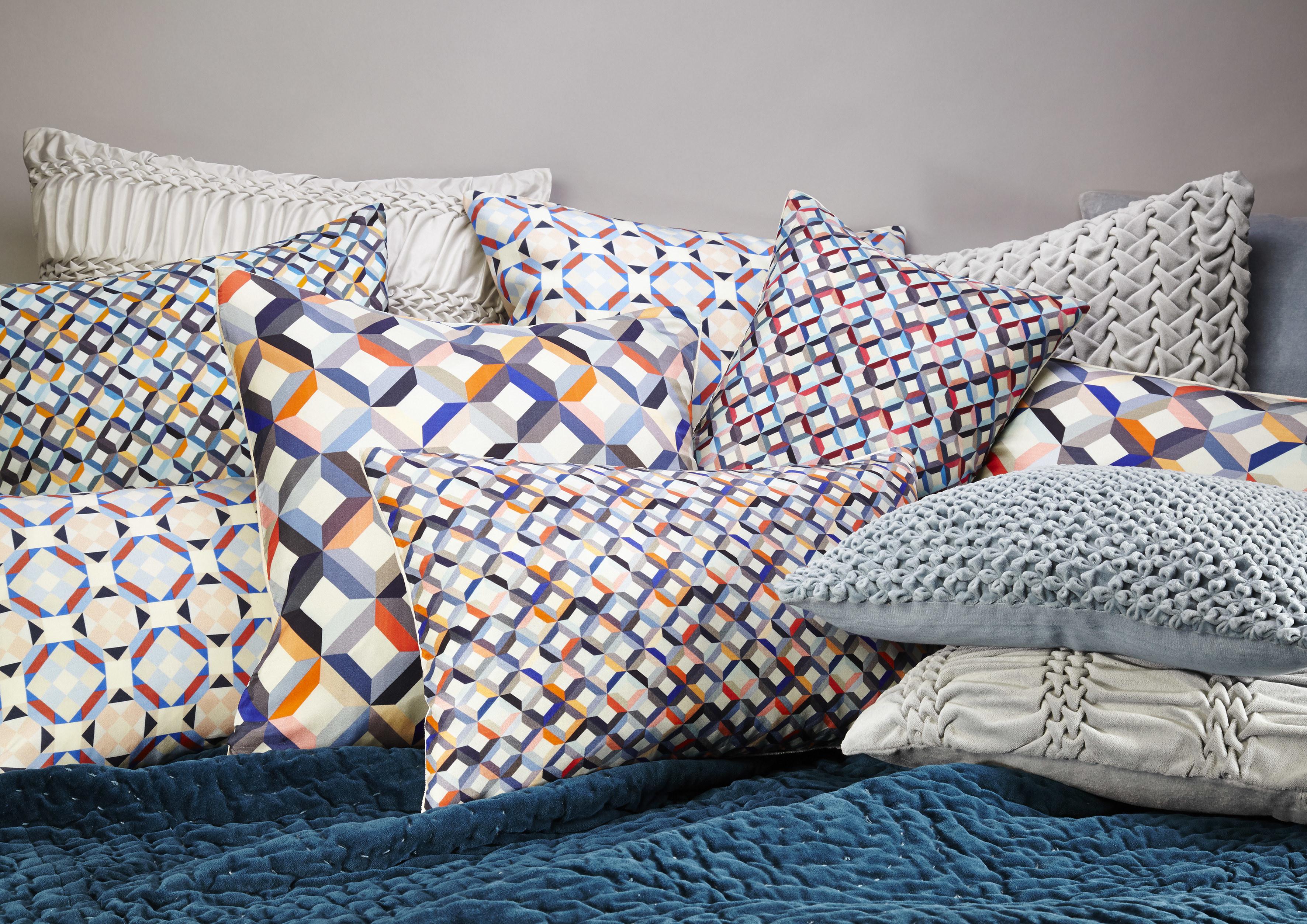 Printed Silk Cushions