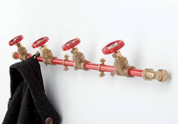 Coat Rack Single (Red)