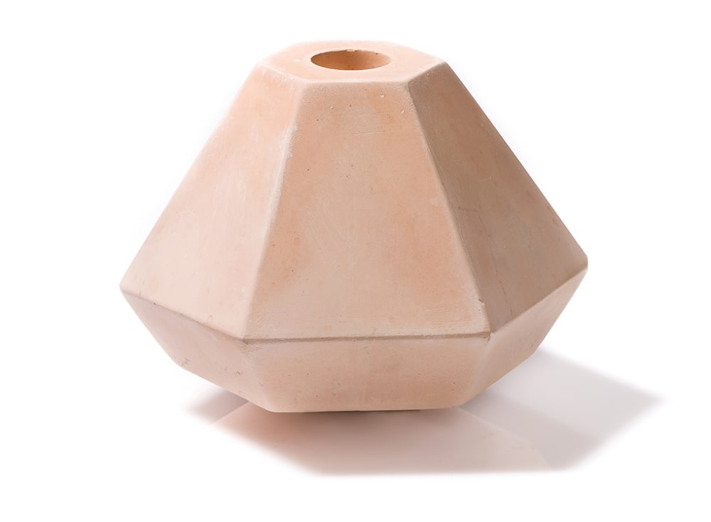 Geometric Concrete Candle Holder in Short Coral by Korridor