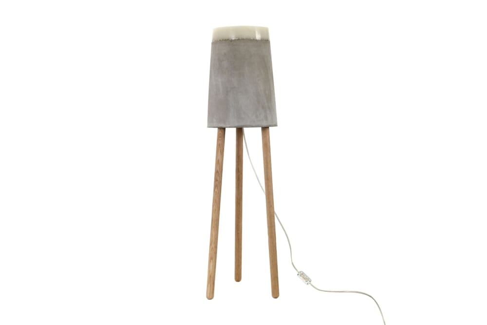 Concrete Floor Lamp by Renate Vos