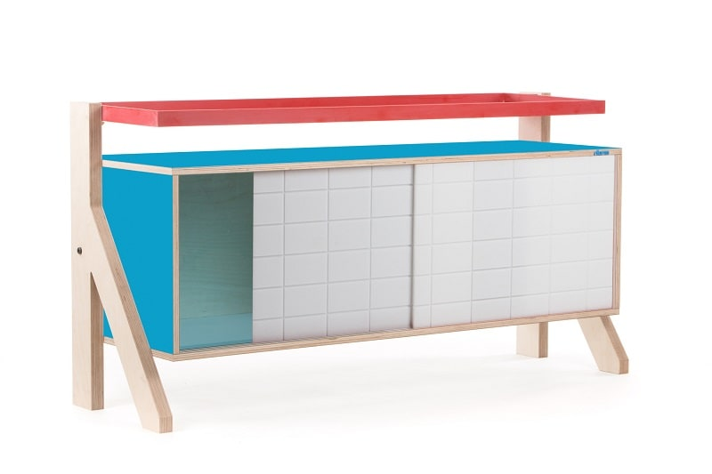 Frame Sideboard 03 Small - Iris Blue