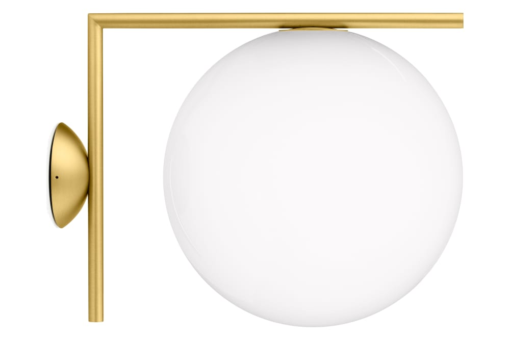 Flos Ic Lights 200 Wall Light Brushed Brass : IC Wall Light C/W1, Brushed Brass, Small by Flos
