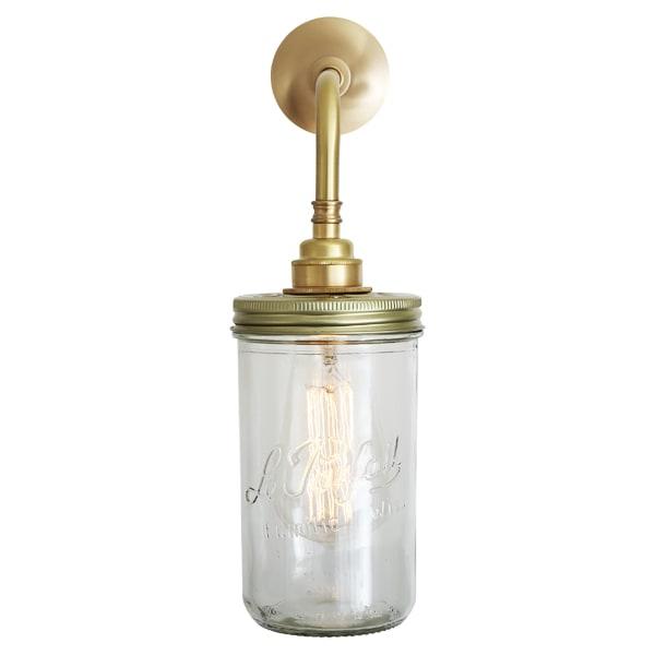 Jam Jar Wall Light