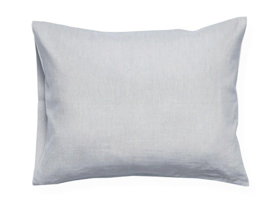 dove grey linen pillowcase