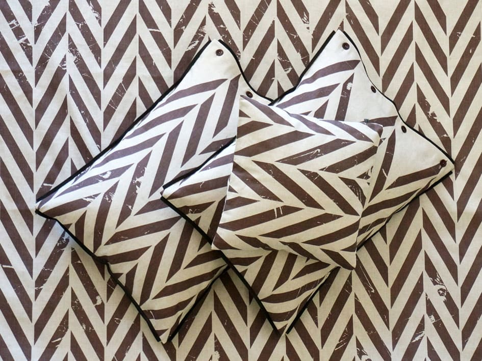 printed pillowcases - brown