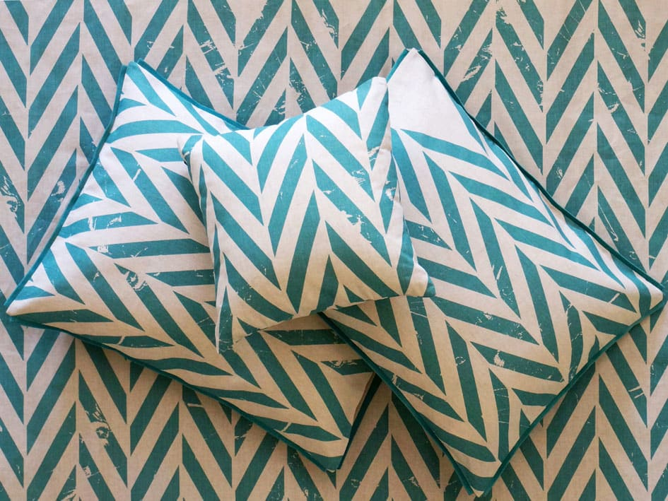 printed pillowcases - aqua