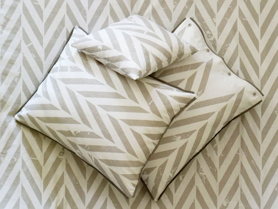 printed pillowcases - grey