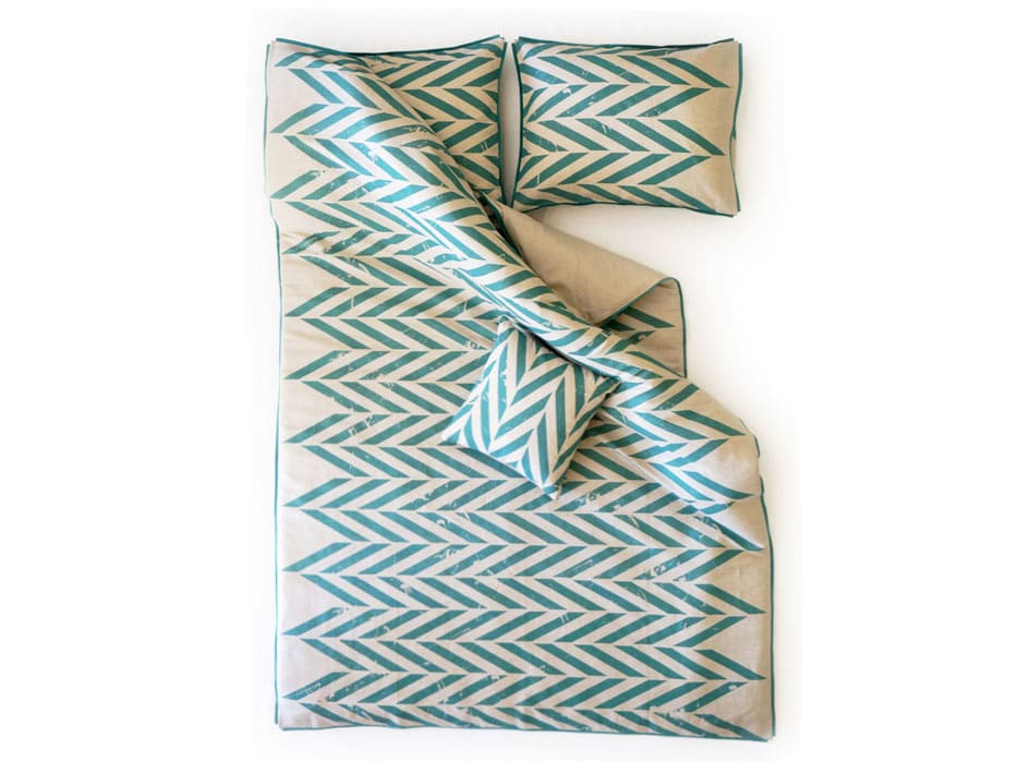 queen bedding set -aqua