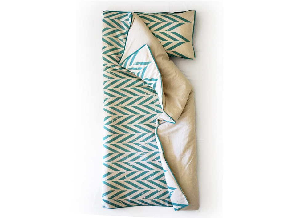 singe bedding set -aqua
