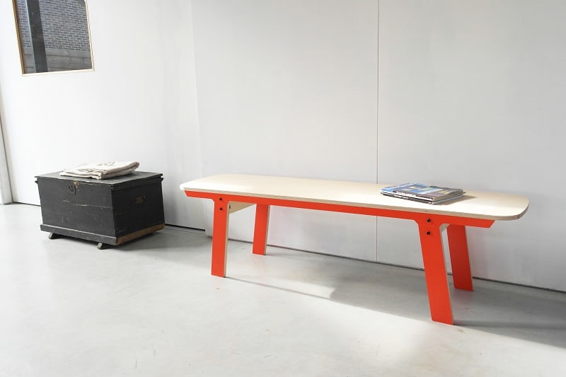 Slim Bench 01 Mid - Foxy Orange