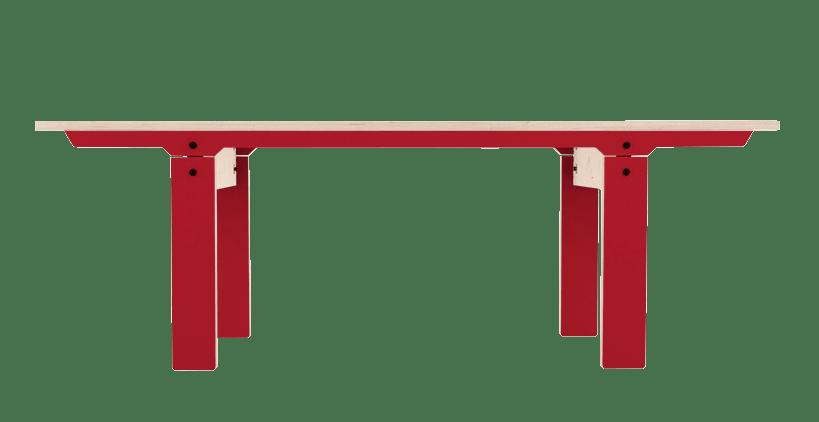 Slim Bench 04 Small - Cherry Red