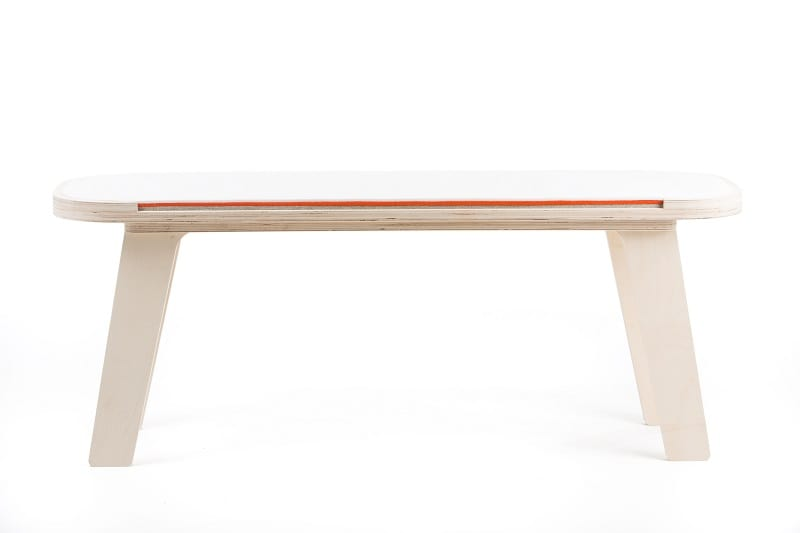 rfrom Slim Touch Bench - White - Orange - Grey