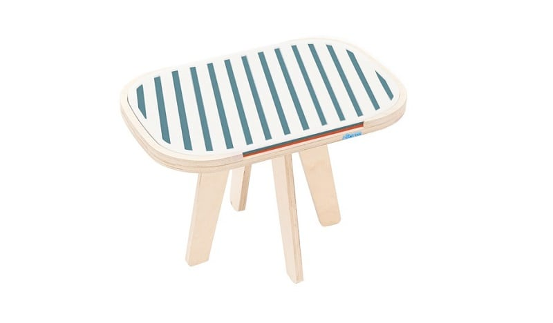 rfrom Slim Touch Side Table - Hard Top - Ocean Blue - Foxy Orange