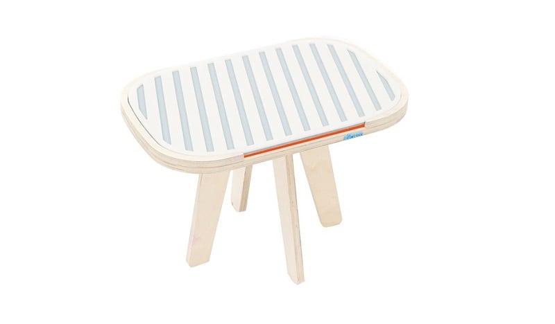 rfrom Slim Touch Side Table - Hard Top - Dusty Grey - Foxy Orange