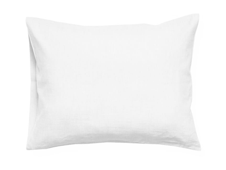 white linen pillowcase