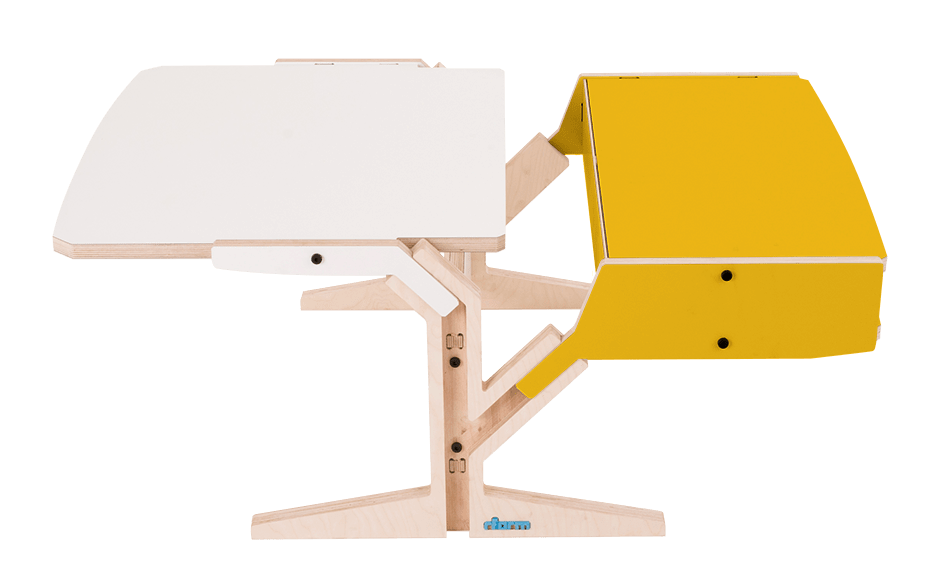 Vegetale Coffee Table - Box & Horizontal Tablet - Canary Yellow