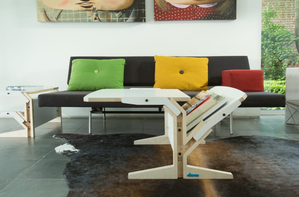 Vegetale Coffee Table - Vertical & Horizontal Tablet - Snow White