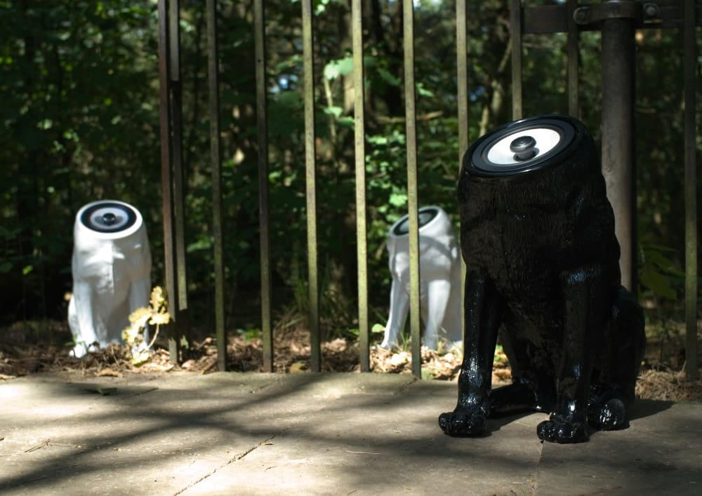 Woofer spreakers white and black by Sander Mulder
