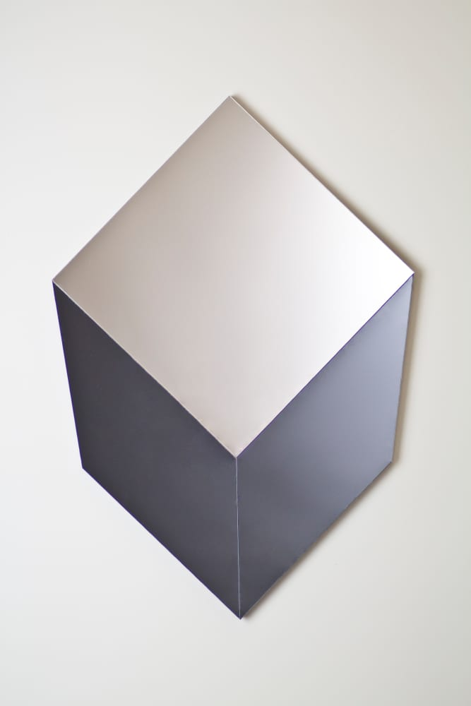 Cube mirror in Grey and Silver